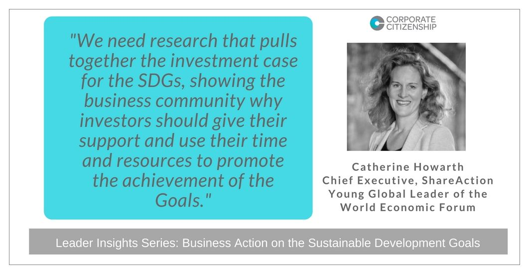 Catherine Howarth Business Action on the SDGs
