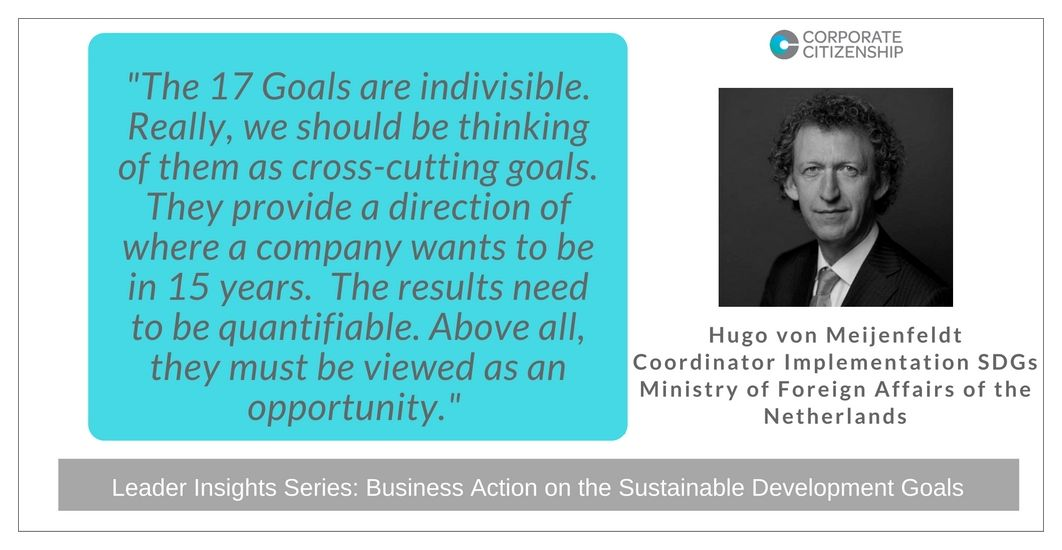 Hugo von Meijenfeldt Business Action on the SDGs