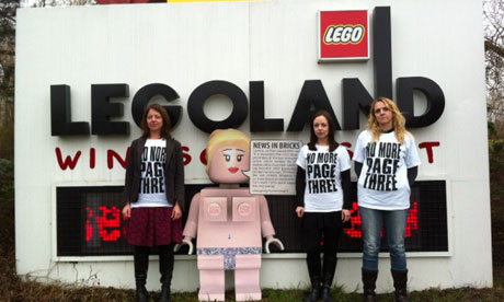 No More Page 3 campaigners at Legoland