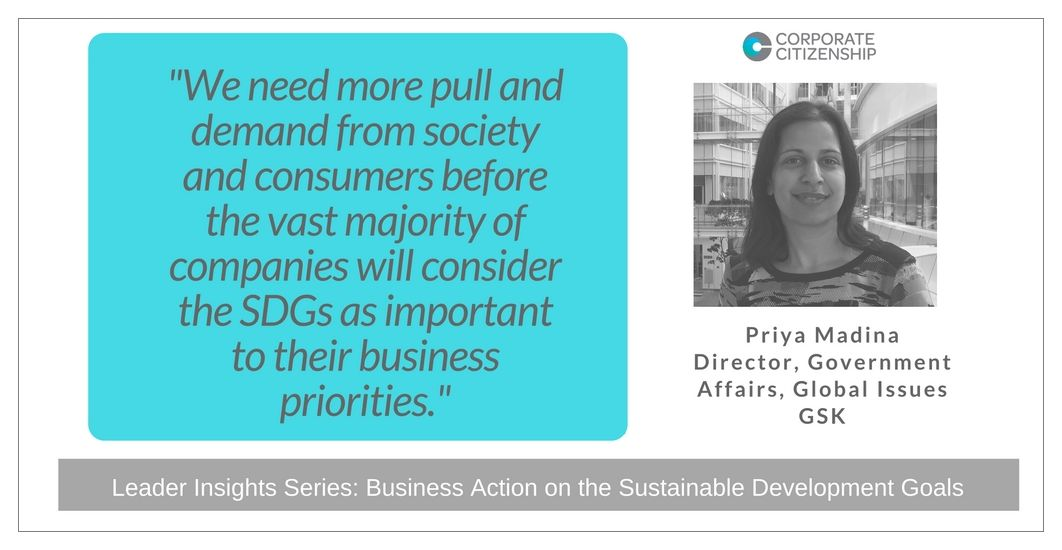 Priya Madina Business Action on the SDGs
